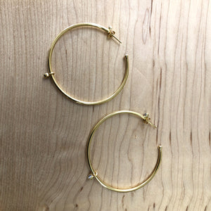 Adrienne Gold Hoop Earrings