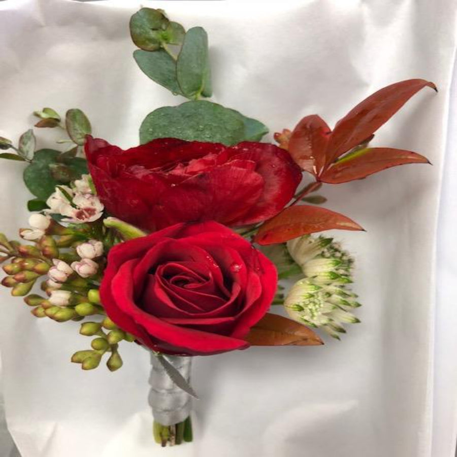 Red Rose Prom Boutonnieres