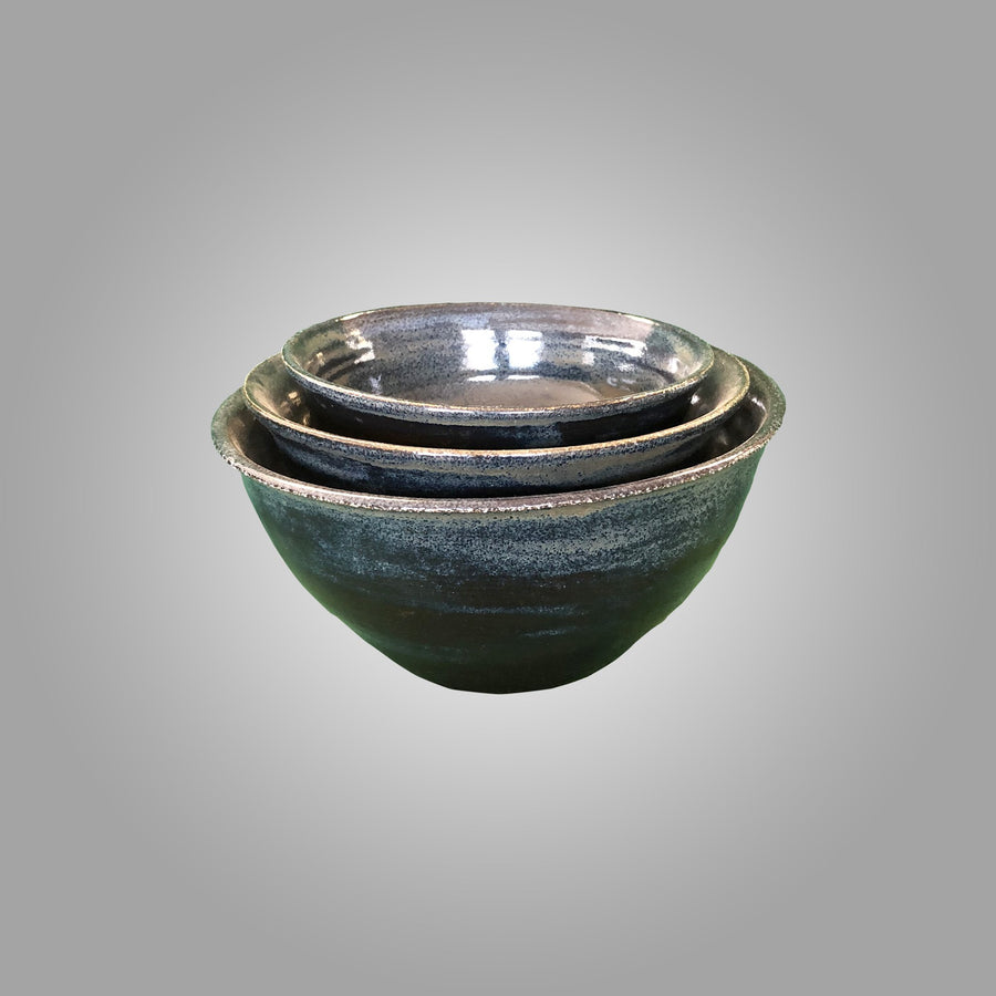 BayclayBlue Bowls - set of 3