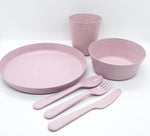 6 piece wheat stalk dinnerware set