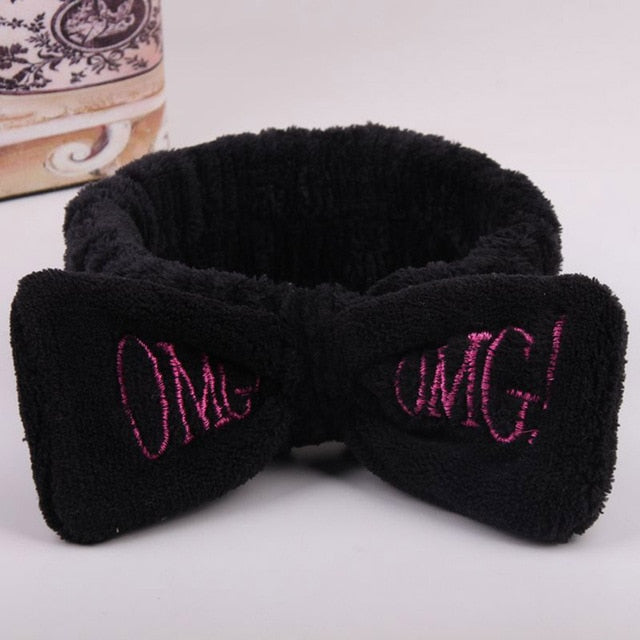 MINTASTORE™ OMG Bow Fleece Wash Face Hairband