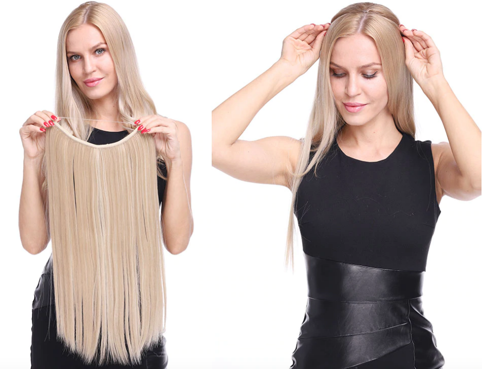"MINTASTORE™️ Invisible 20"" Halo Hair Extensions (40% OFF)"