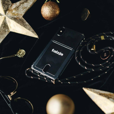 Taizjo-Blackgold-Card-Slot-Phone-Sling-Case