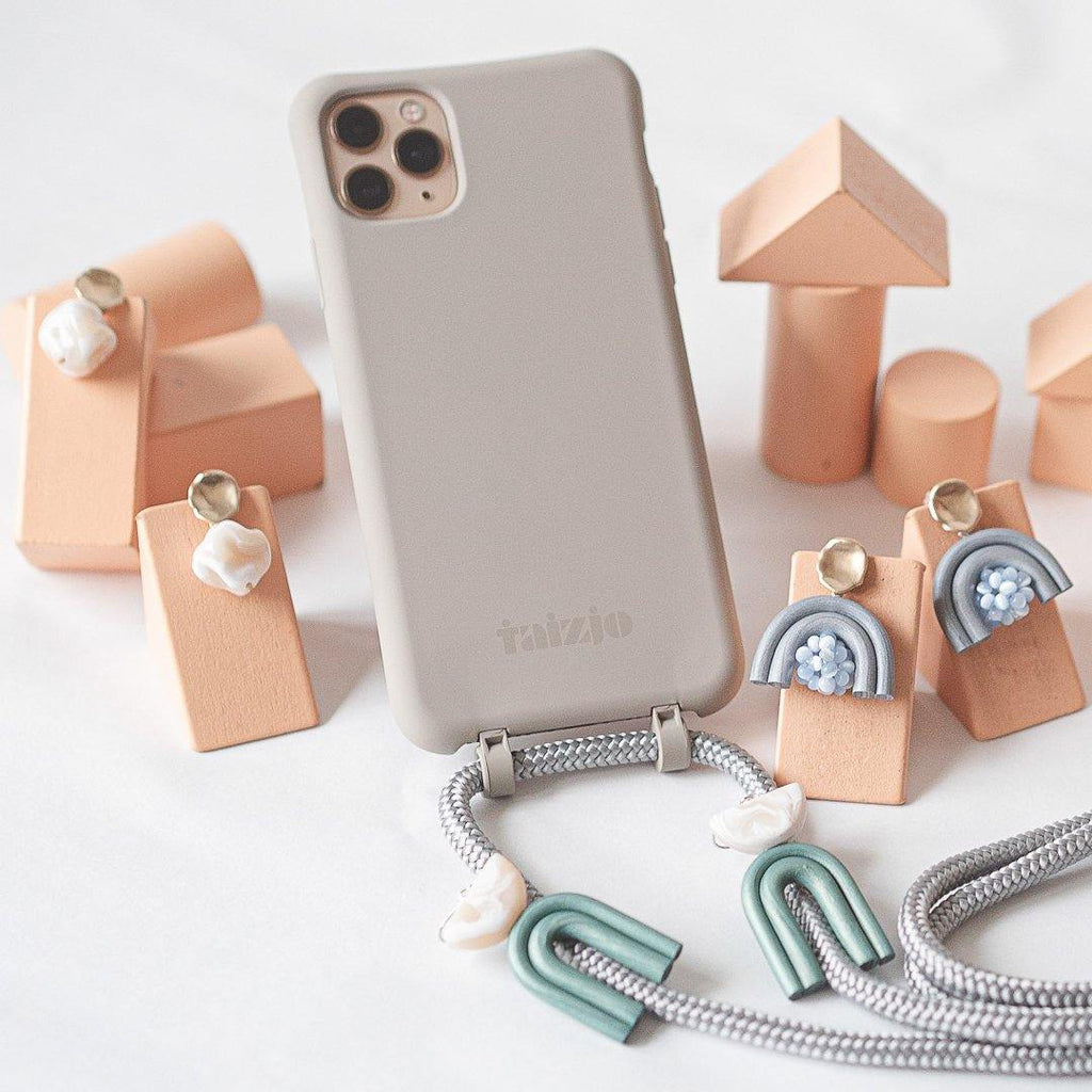 TSUNJA Earrings x TAIZJO DAWN Modular Phone Sling Case Bundle
