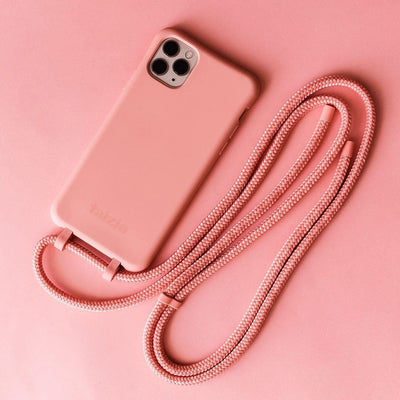 DAWN Modular Phone Sling with Detachable Cord in Coral - Taizjo
