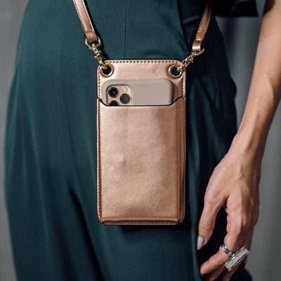 VERSA Universal Phone Sling Bag in Rose Gold - Taizjo
