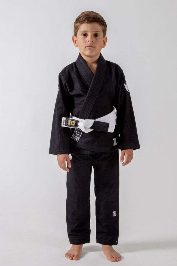 The ONE Kids Jiu Jitsu Gi - Black - FREE White Belt