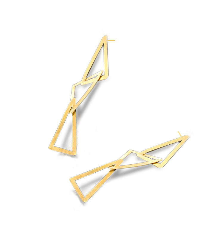 Triangular Earrings Trio