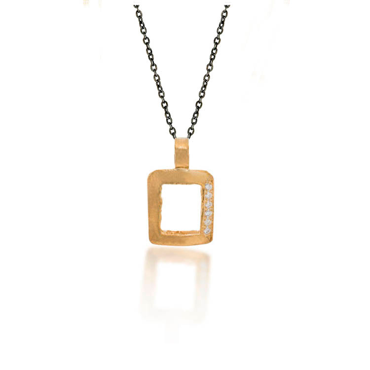 Square Pave Necklace