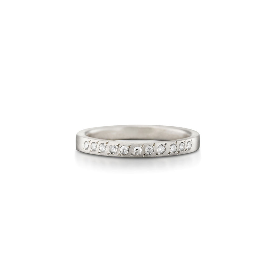 Half Eternity Diamond Ring White