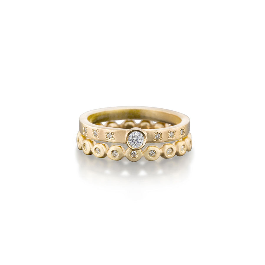 Round Diamond Ring With Eternity Band