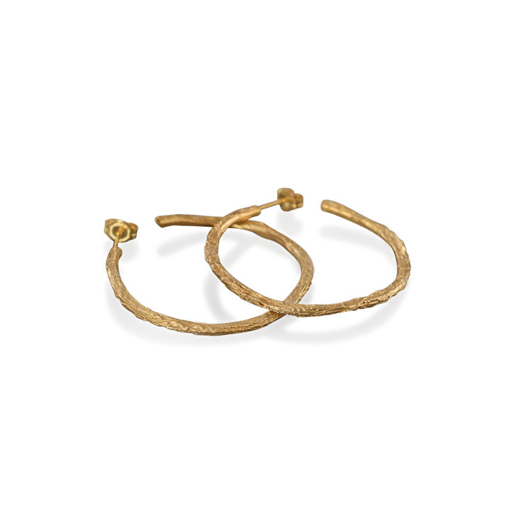 Twig Hoop Earrings Yellow Large