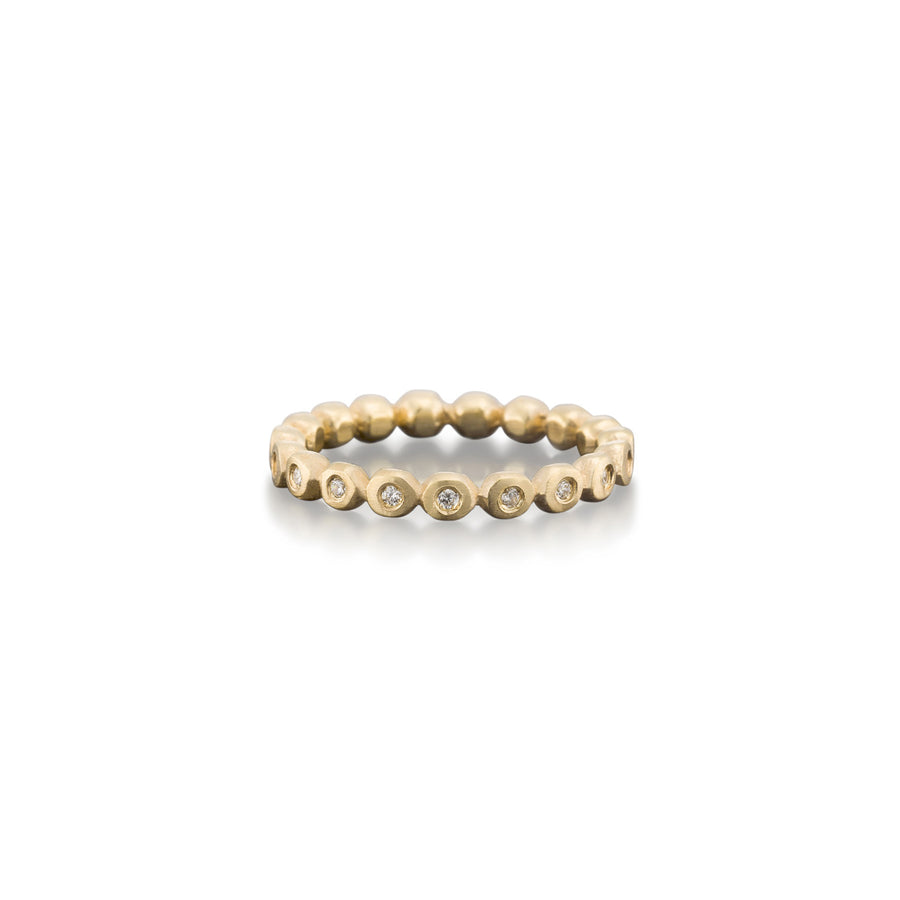 Diamond Pebble Eternity Band