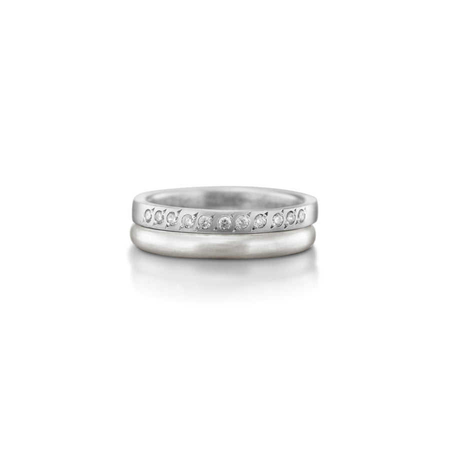 Half Eternity Diamond Band With Matching Ring Set