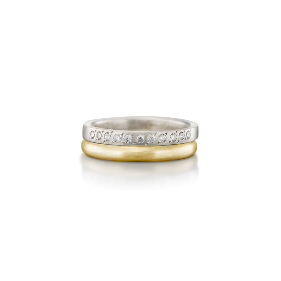 Half Eternity Diamond Band With Matching Ring