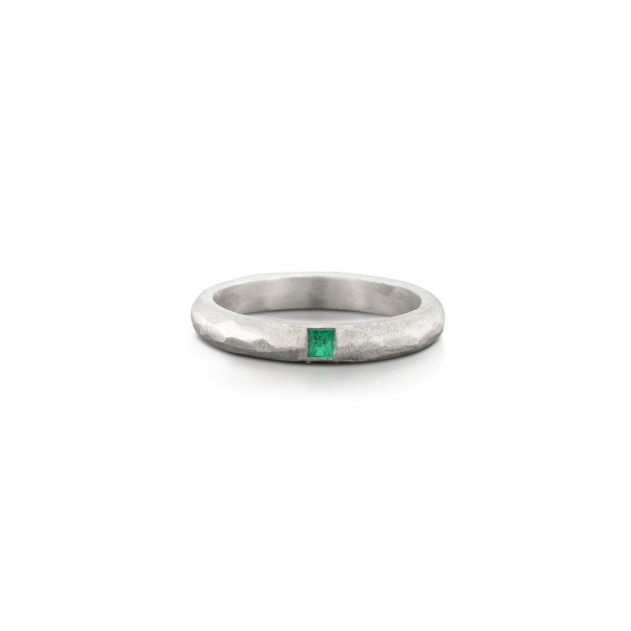 Emerald Hammered Band White