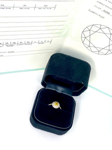 Tiffany & Co Soleste Platinum and Gold Yellow Diamond Engagement Ring