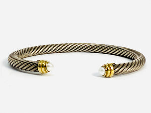 David Yurman Cable Bracelet with Pearls