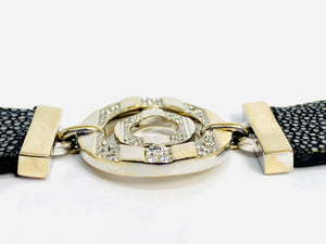 Bulgari Stingray Bracelet 18 kt White Gold with Diamonds