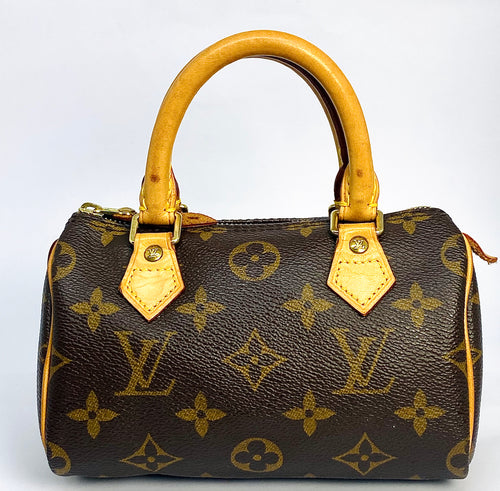 Authentic Mini Louis Vuitton Speedy Hand Bag