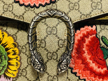 Load image into Gallery viewer, Gucci GG Supreme Canvas Embroidered Butterfly/Flowers Dionysus Shoulder Bag