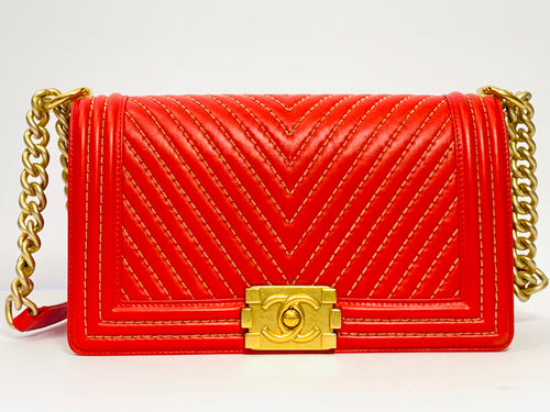 Iconic Red Chanel Boy Bag