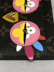 Unique Louis Vuitton Monogram Lovely Birds Owl Card Holder