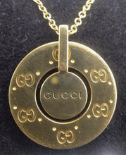 Load image into Gallery viewer, Stylish Gucci Logo 18kt Yellow Gold Necklace