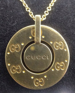 Stylish Gucci Logo 18kt Yellow Gold Necklace