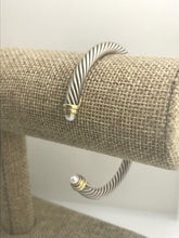 Load image into Gallery viewer, David Yurman Cable Bracelet with Pearls