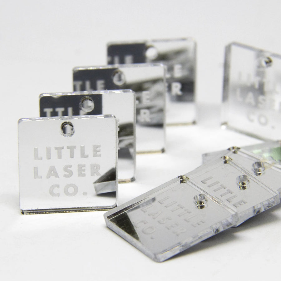 Square Mirror Acrylic Tags