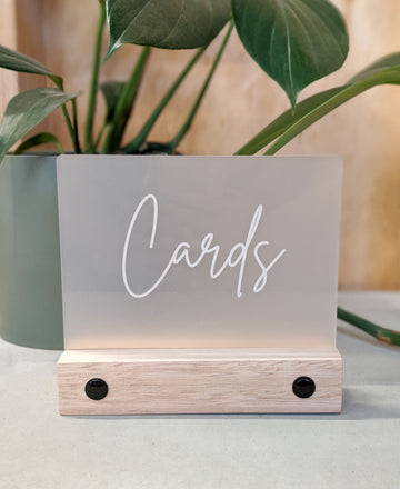 Rectangle Acrylic Block Sign