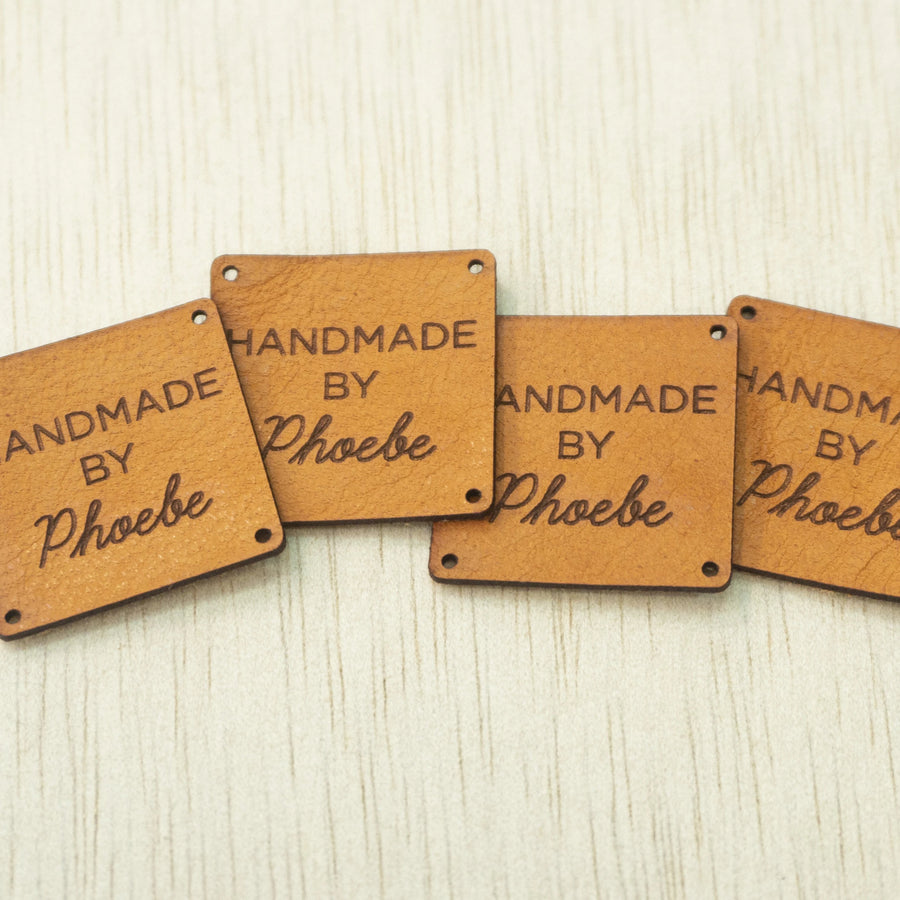 Square Leather Tags
