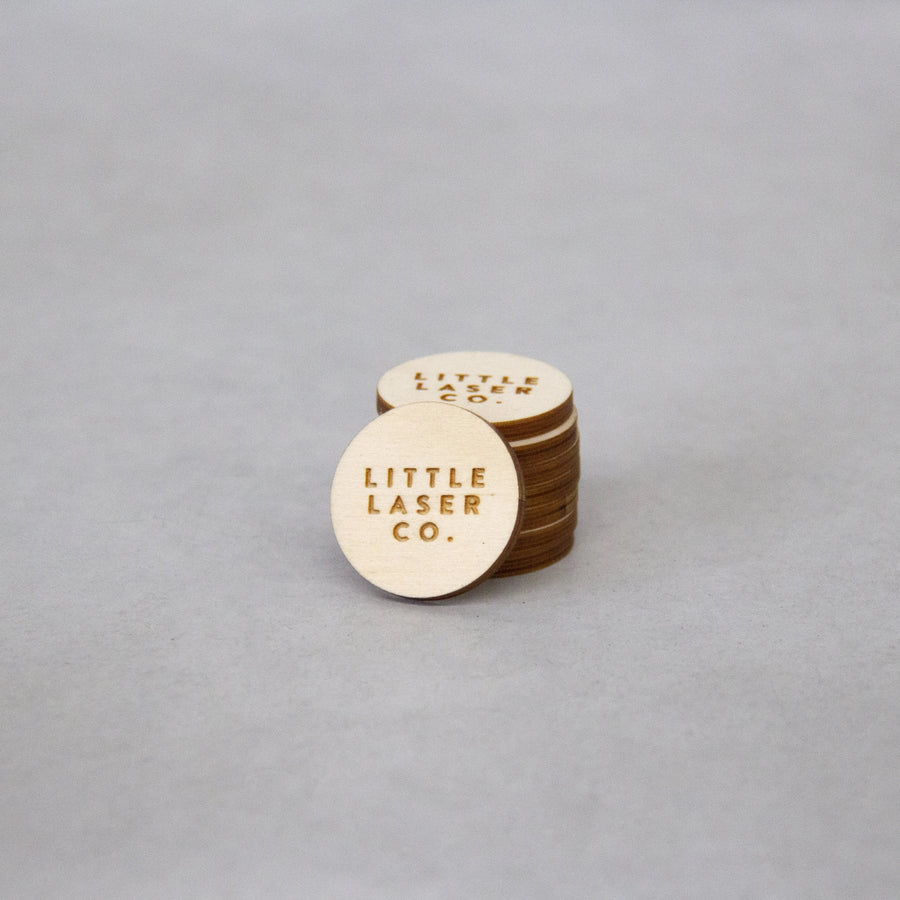Circle Wooden Ply Tags