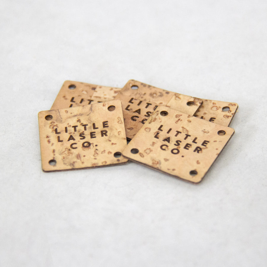 Square Cork Fabric Tags