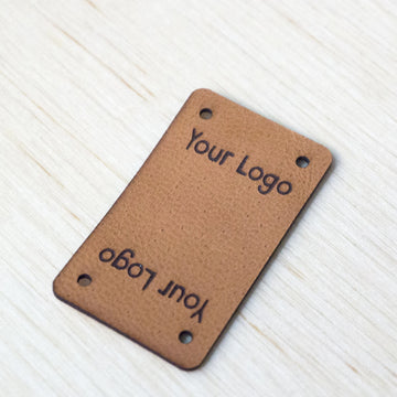 Rectangle Fold Leather Tags
