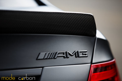 Mode Carbon Mercedes Benz C63 Black Series W204 Sedan Carbon Fibre Coupe Bootlid Spoiler