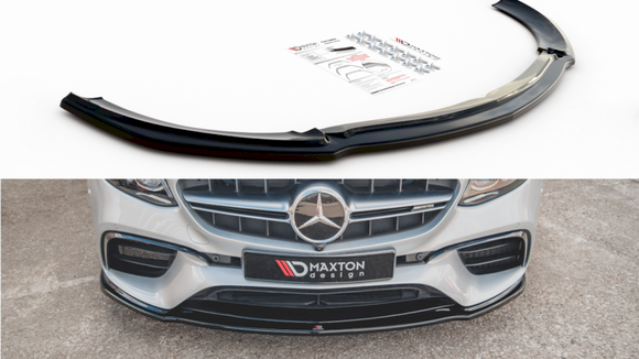 Maxton Design Front Splitter V.2 MERCEDES BENZ E63 AMG ESTATE/ SALOON S213/W213