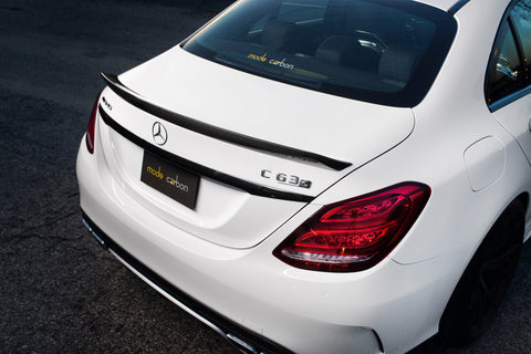 Mode Carbon Mercedes Benz C63(S) W205 Sedan Carbon Fibre Bootlid Spoiler