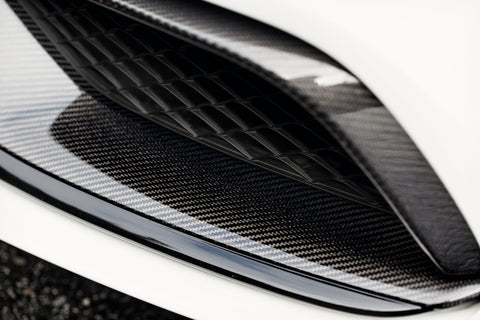 Mode Carbon Mercedes Benz C63(S) W205 Sedan Carbon Fibre Euro-Spec Front Trim Replacement