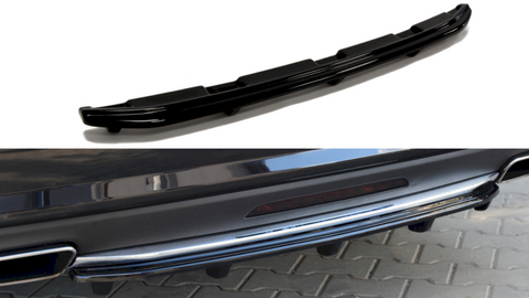 Maxton Design Central Rear Splitter Mercedes CLS C218 AMG-LINE (WITH A VERTICAL BAR) (2011-2014)
