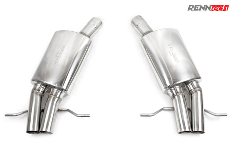 RENNtech Stainless Steel Sport Mufflers for Mercedes-Benz S65 AMG W222