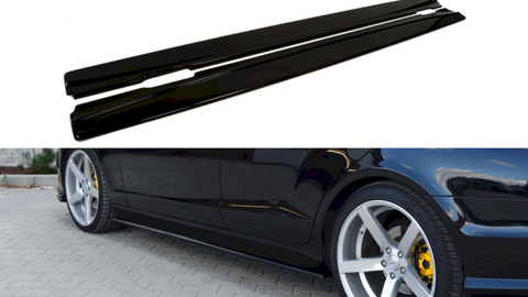 Maxton Design Side Skirts Diffusers Mercedes CLS C218 AMG-LINE (2011-2014)
