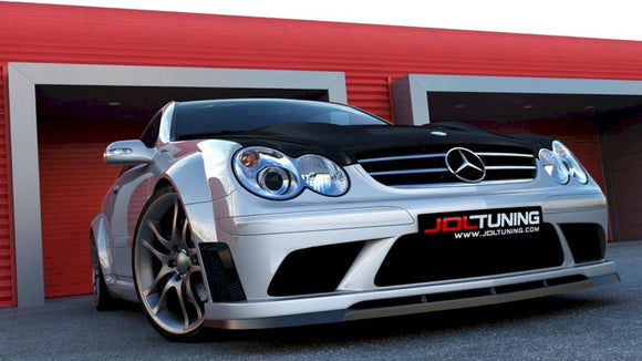 Maxton Design Front Splitter Mercedes CLK W209 (FOR ME-CLK-209-BLACK-F1 BUMPER)