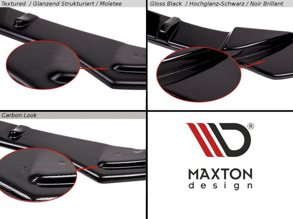 Maxton Design Front Splitter Merceds CLK W209 BLACK (SL BLACK SERIES LOOK)