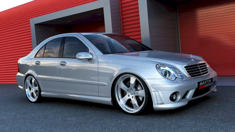 Maxton Design Side Skirts MERCEDES C W203 < AMG 204 LOOK>