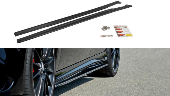 Maxton Design Side Skirts Diffusers Mercedes A45 W176 AMG FACELIFT (2015-2018)