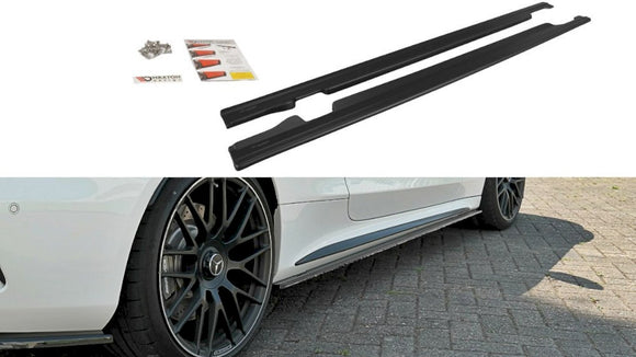 Maxton Design Side Skirts Splitters MERCEDES C 205 63 AMG COUPE (2016-2018)