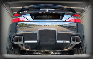 Quicksilver Exhausts - Mercedes SL 65 AMG Black Series Only R230 Sport Rear Sections  - Years 2008-11 - MM650S