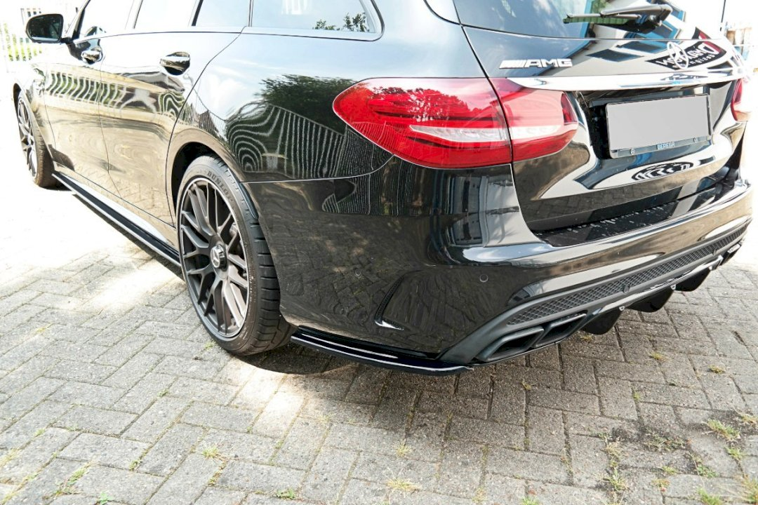 Maxton Design Rear Side Splitters MERCEDES C-CLASS S205 63 AMG ESTATE (2015-2018)